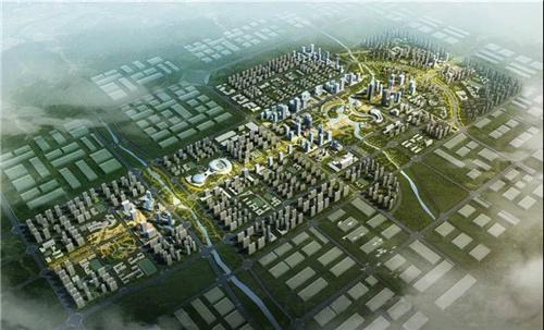 郑州国际智慧物流新城部分规划(效果图)